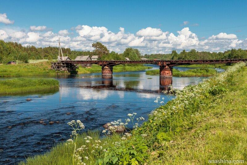Мост через Пяльму, Карелия, Пяльма