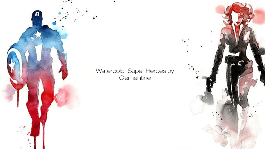 Watercolor Super Heroes by Clementine (18 pics)