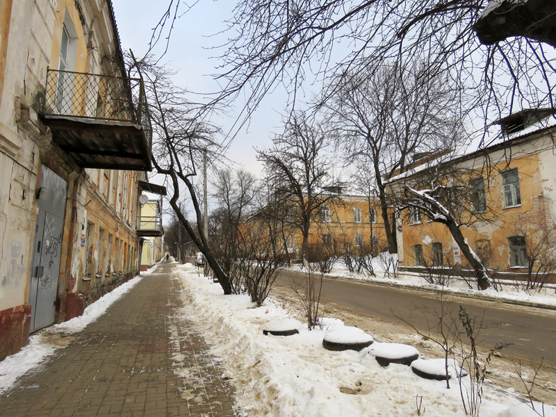 Kaluga Part 3: houses and streets of Kaluga, parts, Kaluga, streets, here, Kaluga, Lenin, Kirov, street, street, stands, street, city, frame, part, after, city, angle, Perovskaya, first