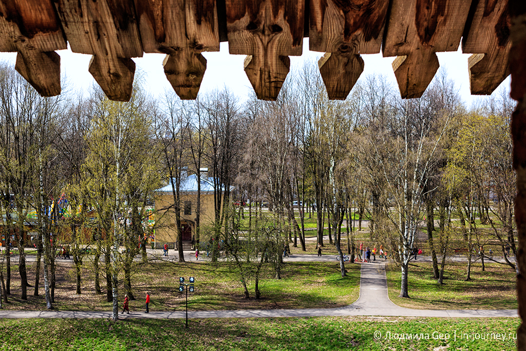 вид со стены новгородского детинца
