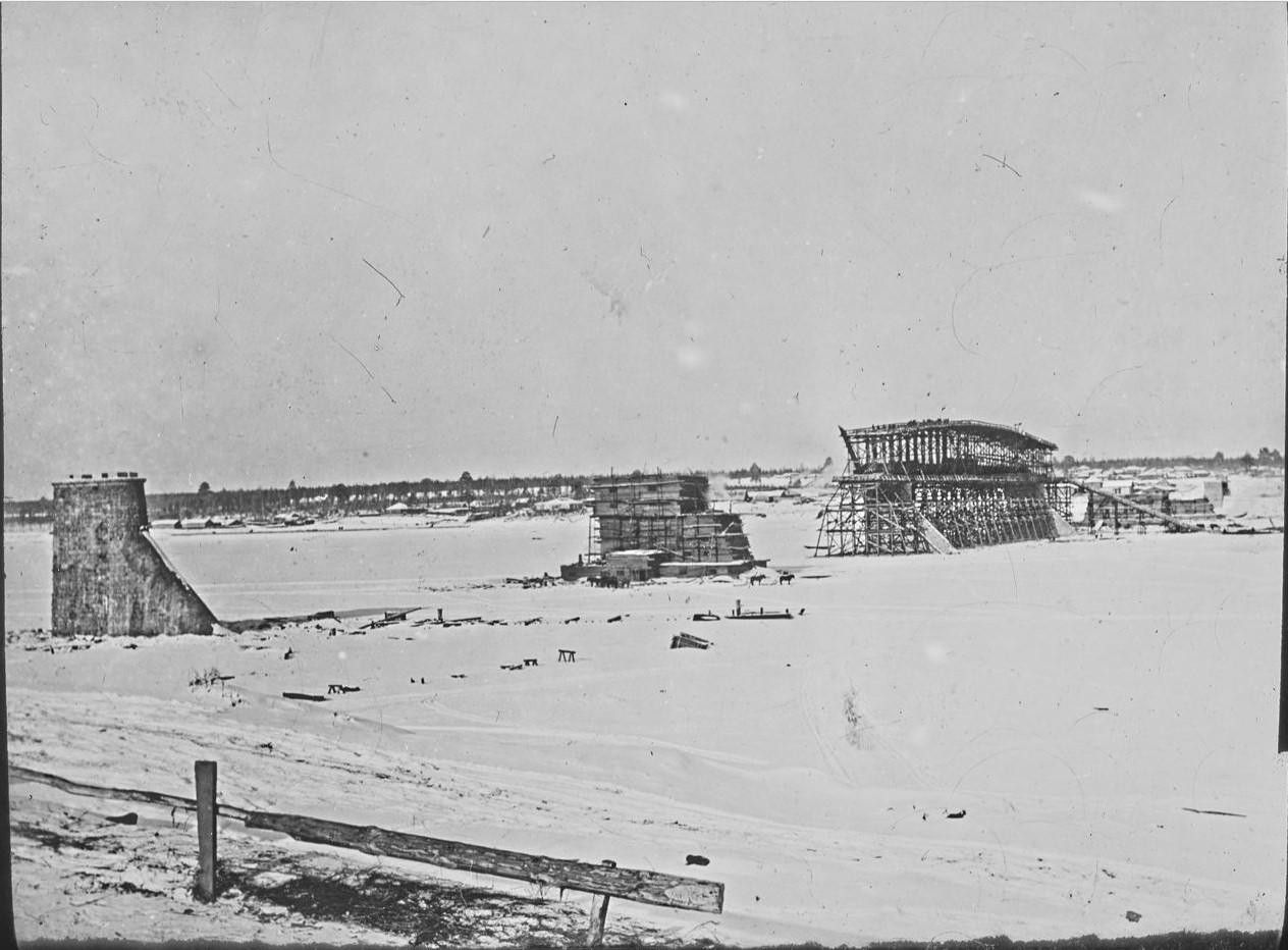Новониколаевск. Строительство моста через Обь