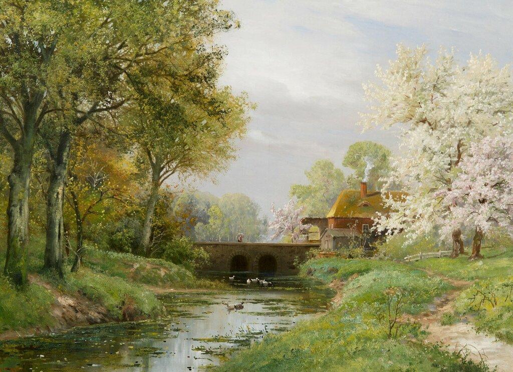 Весенний пейзаж (Landscape in Spring)_73.5 х 100_х.,м._Частное собрание.jpg