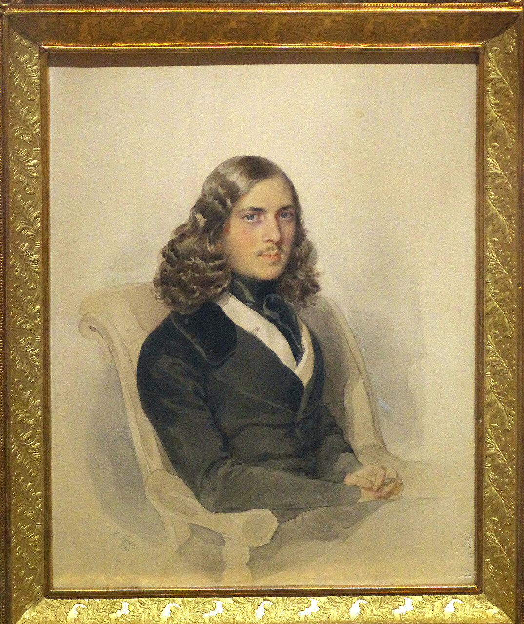 Леопольд Фишер. Портрет Н.А. Спешнева в кресле. 1843. ФРАГМЕНТ