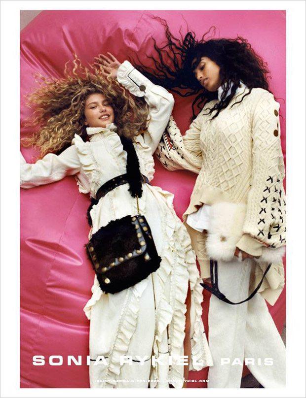Imaan Hammam & Dorit Revelis Model Sonia Rykiel FW17 Collection