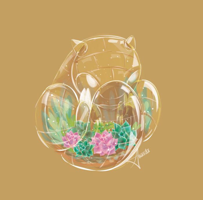 Artist Starmanda Creates Original Pokemon As Terrariums
