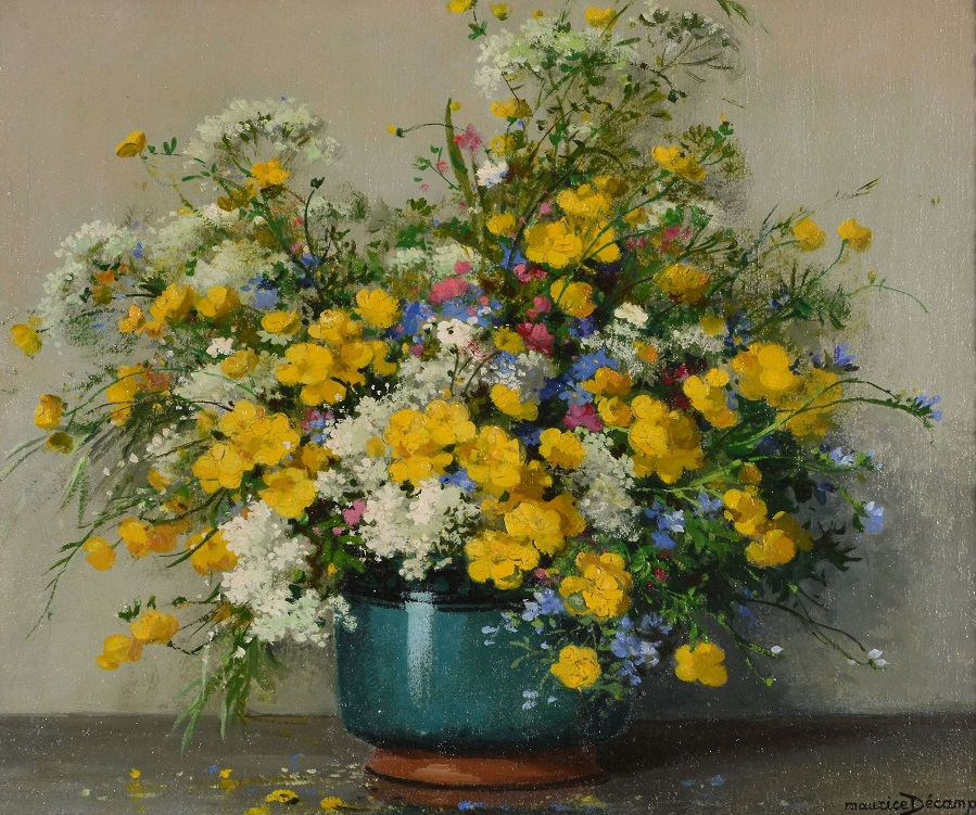 Still life with meadow flowers , circa 1954