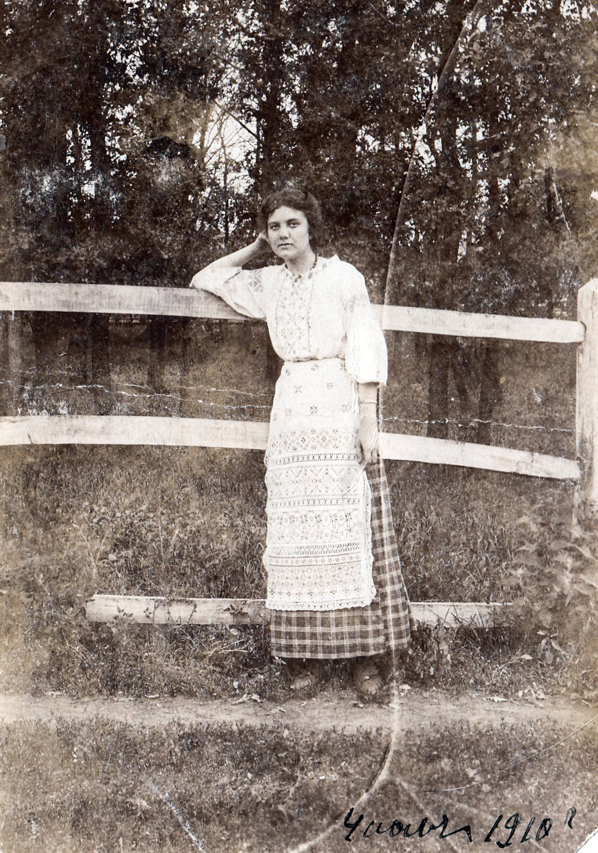 Панафидина Антонина Алексеевна - дочь управляющего имением графов Орловых-Давыдовых, 1910