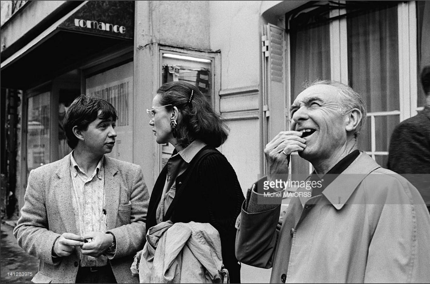 1988. Робер Дуано с фотографами Кристианом Кожолем и Мартине Франк
