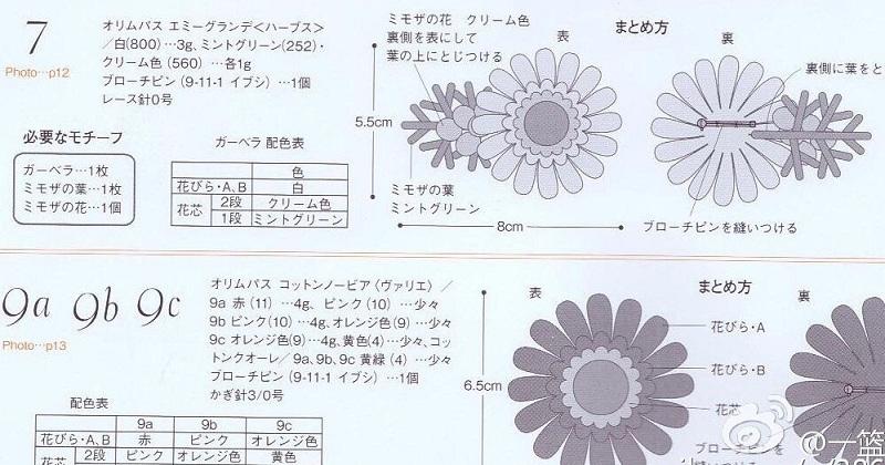 Ромашки крючком. Схемы вязания (8)