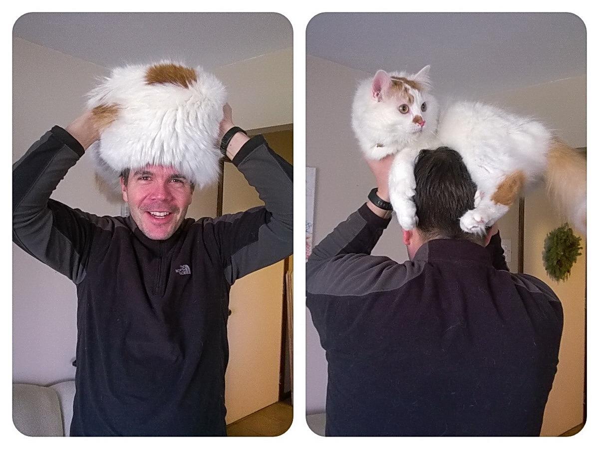 Фото приколы. Меховая шапка