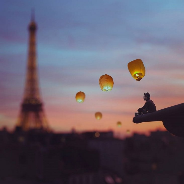 Реальность наизнанку: сказочные фотоколлажи от Винсента Бурильона