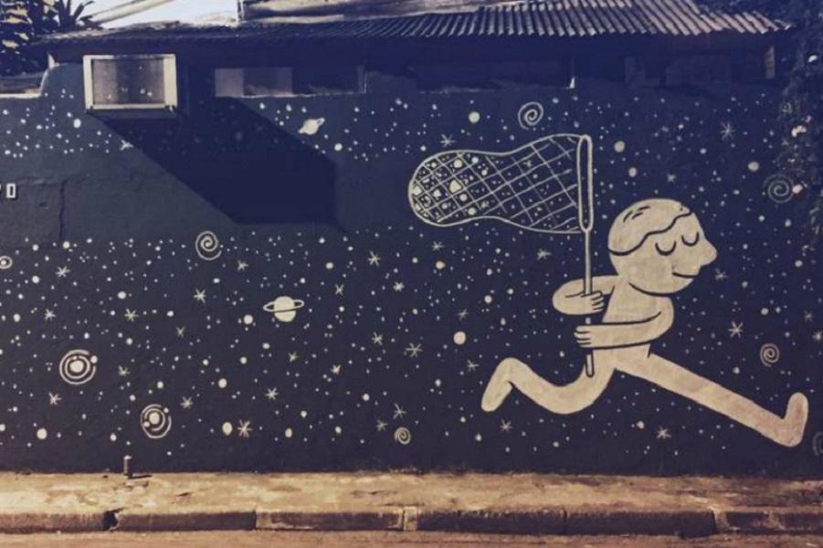 Занимательные фрески в Сан-Паулу