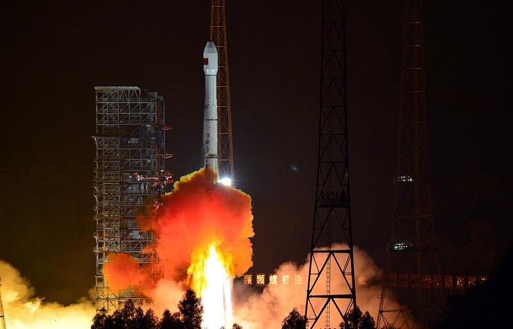 Китая запустил вкосмос ракету соспутником дистанционного зондирования земли