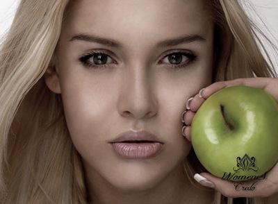 Для жирной кожи маска из зеленого яблока