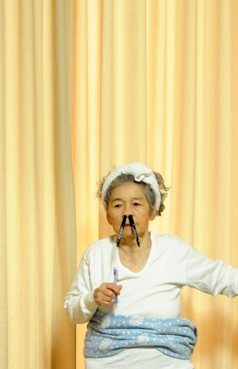 A 87-year-old Japanese grandmother stages herself in twisted self-portraits