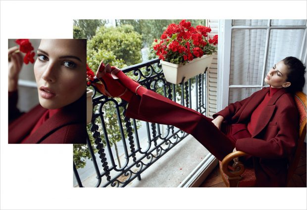 The striking Monica Cima at IMG Models takes the pages of Marie Claire Turkey 's September 201