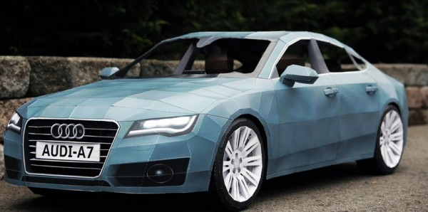 Although not to scale, this 2012 Audi A7 is still the largest papercraft model ever produced using 2