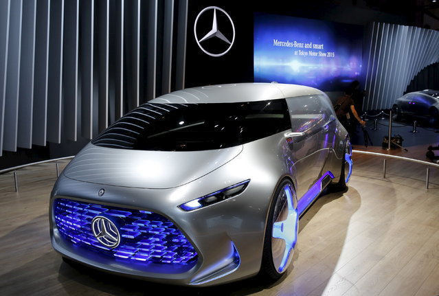 Mercedes-Benz Vision Tokyo concept car is on display at the 44th Tokyo Motor Show in Tokyo Wednesday