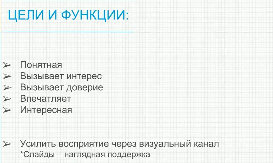 цели и функци презентации