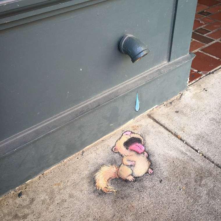 A Street Art de David Zinn