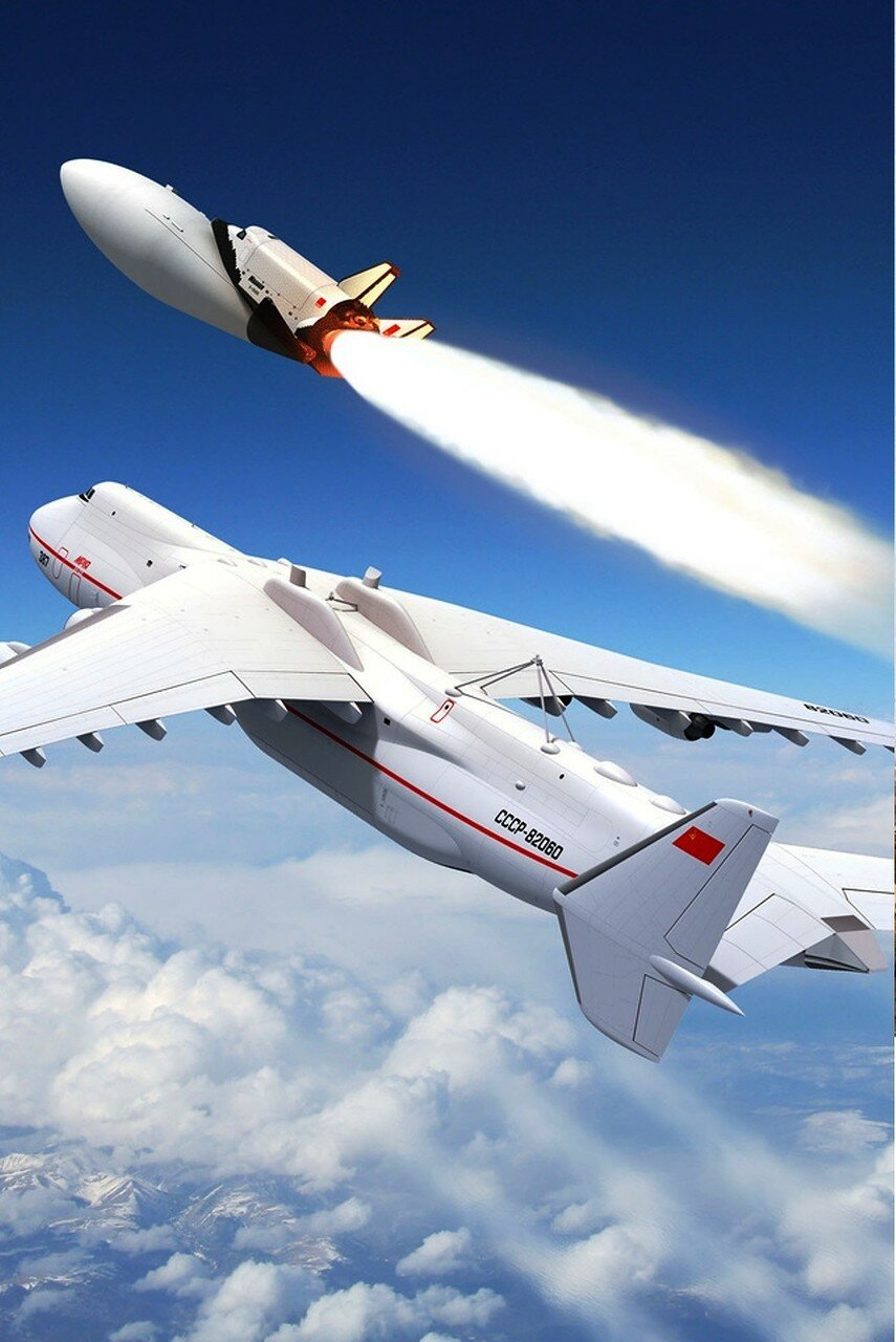 Самолет, АН-225, Мрия, Челнок Буран, Старт..jpg