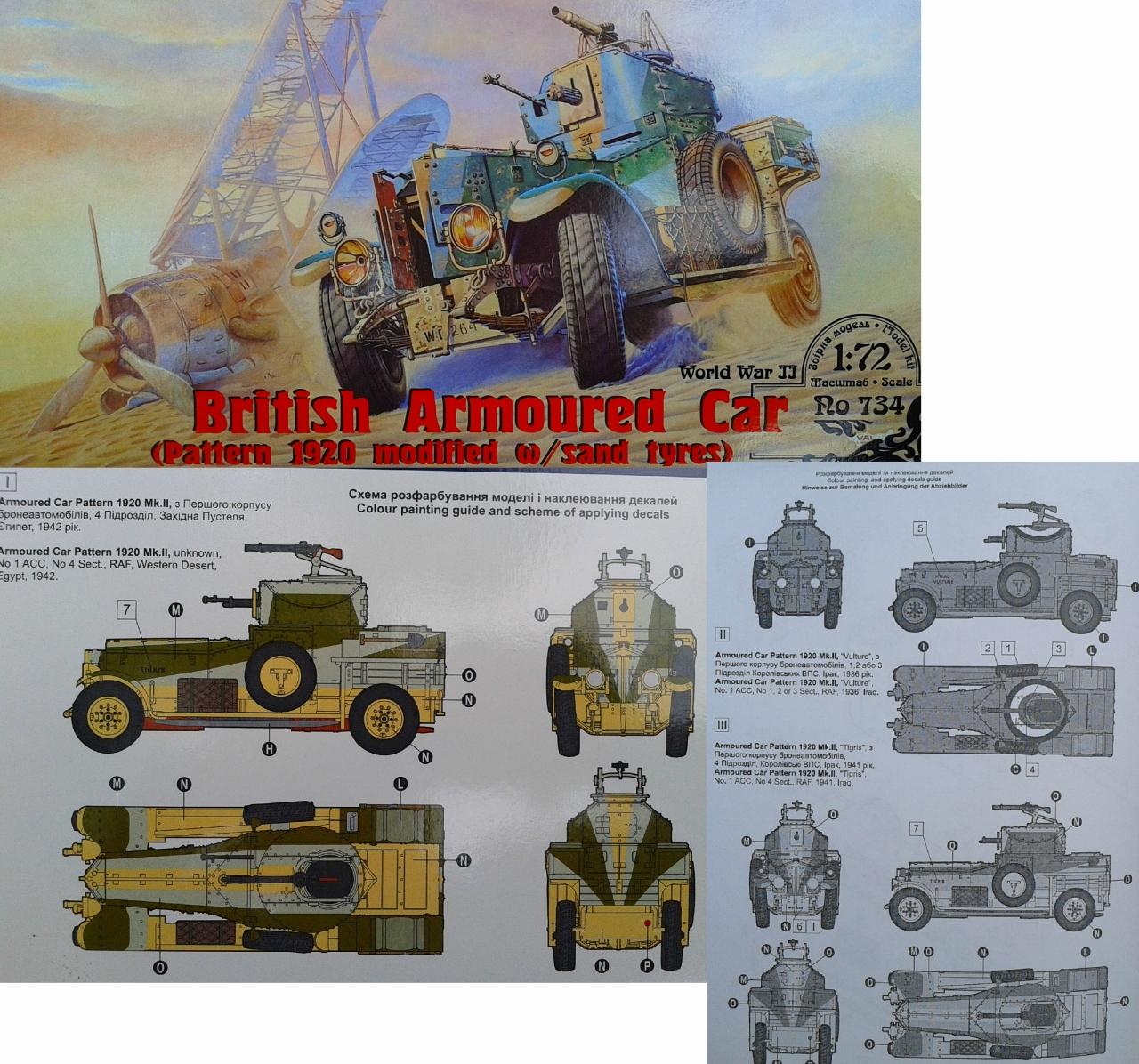 Roden #734WWII British Armoured Car  Pattern 1920 Mk.II