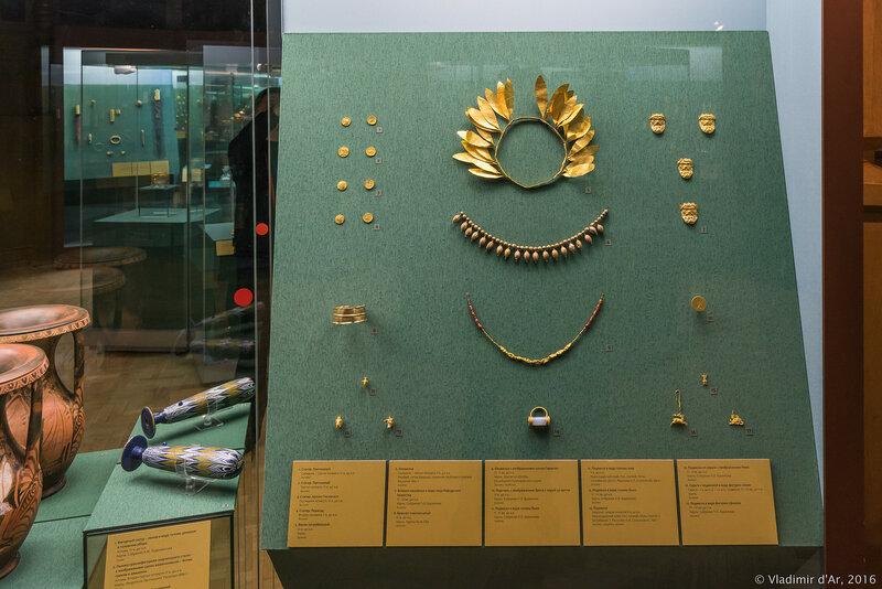 Выставка Греческое золото. Сокровища эллинов и варваров в Историческом музее.