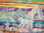 """Морян Антон (рук. Горшкова Елена Павловна) - """"Белые медведи"""""""