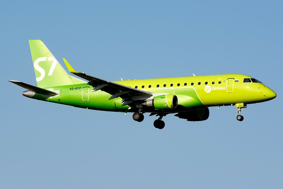Embraer 170-100SU.  S7 Airlines. VQ-BYF.