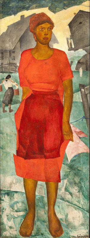 Николай Ионин. Женщина в красном. 1925. Государственный Русский музей