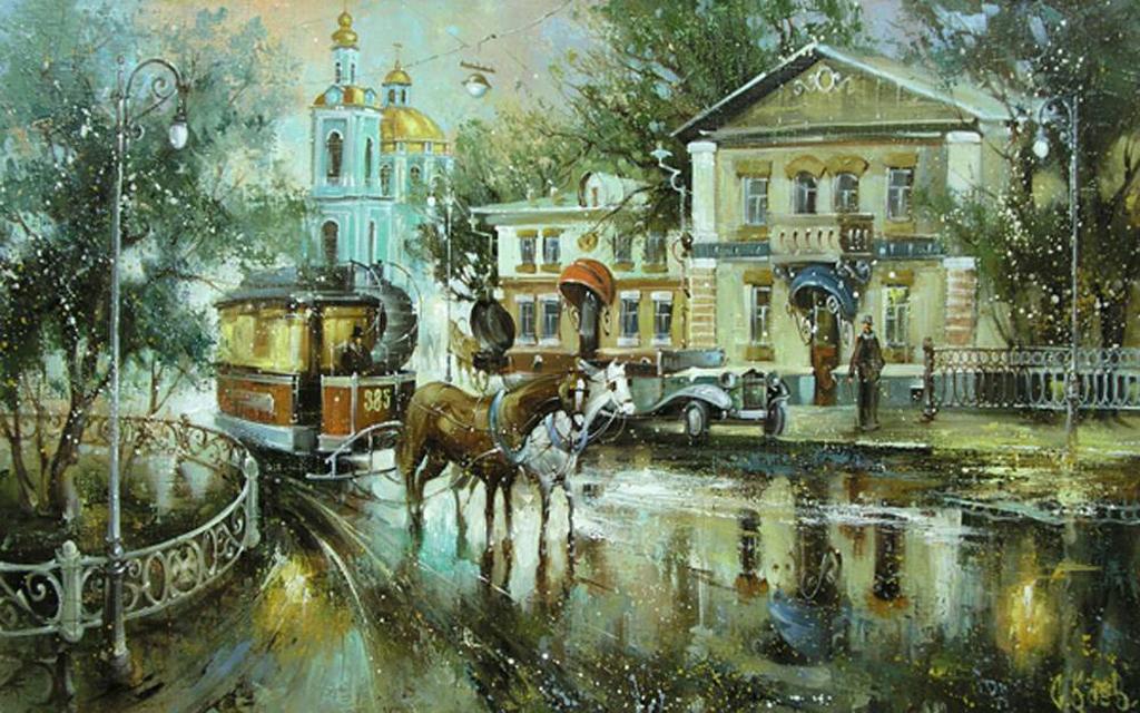 Боев Сергей- Москва.Первые трамваи.jpg