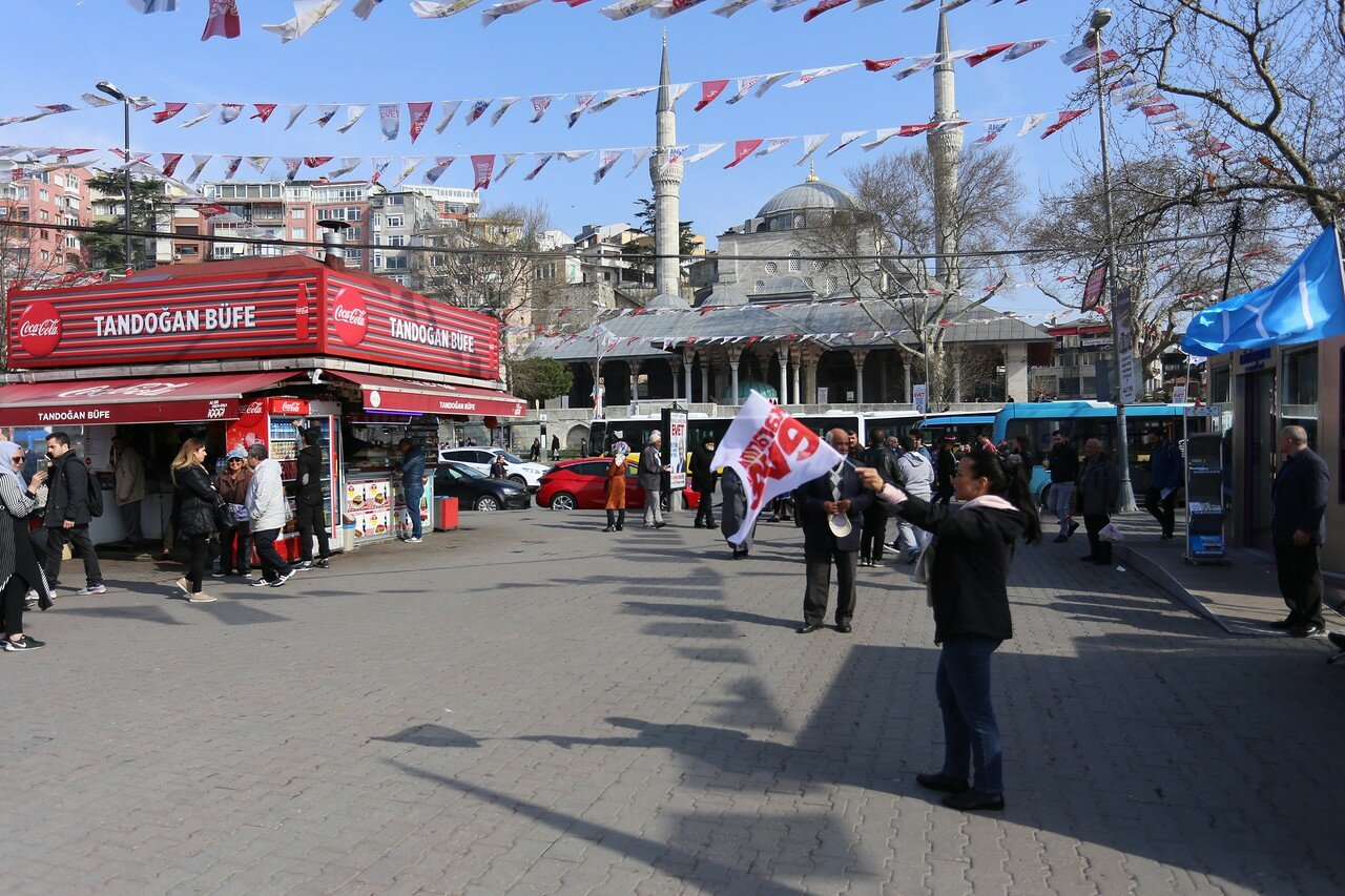 Istanbul. Pre-election campaigning in Turkish