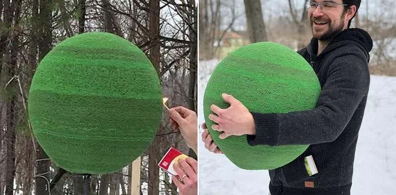 0 1830cb 5ec3f7b7 orig - Поджигаем шар из 42 тысяч спичек - Видео