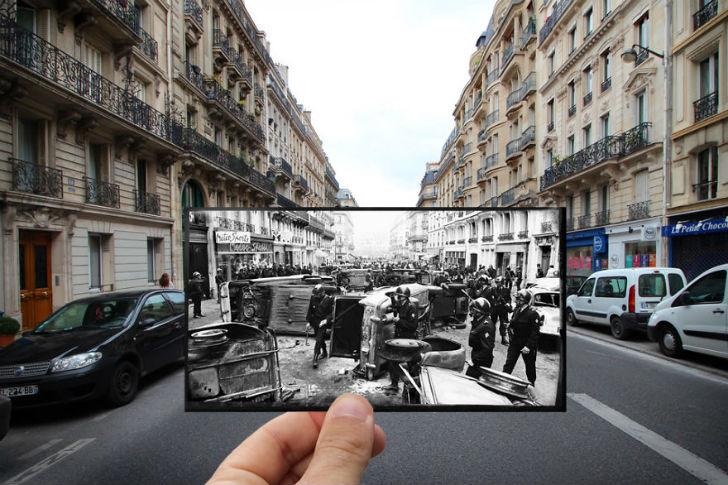 Улица Гей-Люссака сейчас и в 1968 году.