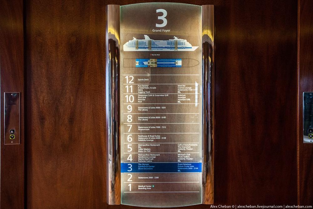 33. На Celebrity Millennium 12 палуб, доступных пассажирам.