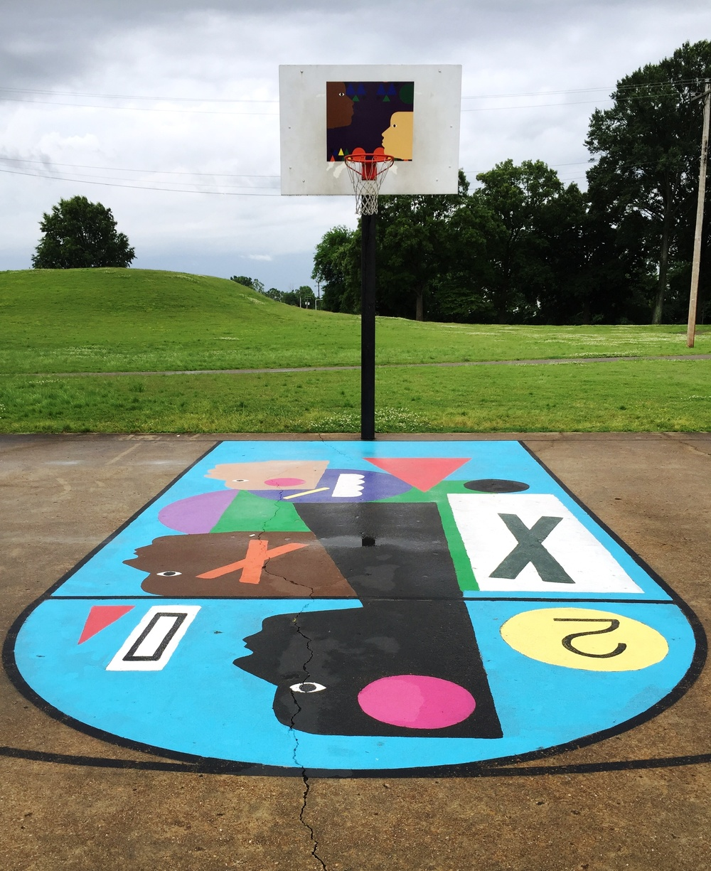 Basketball Courts Transformed Into Large-Scale Artworks by Project Backboard
