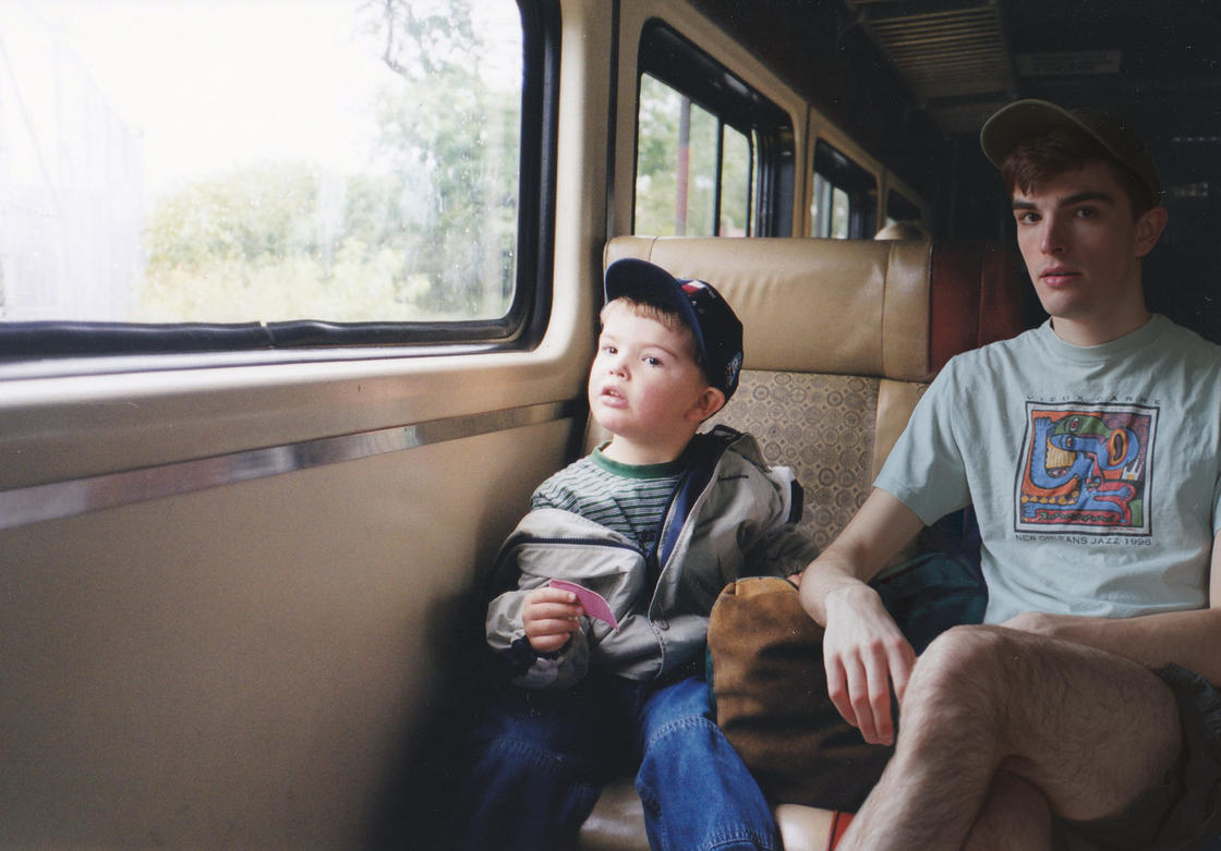 This photographer is inserting himself in his childhood photos