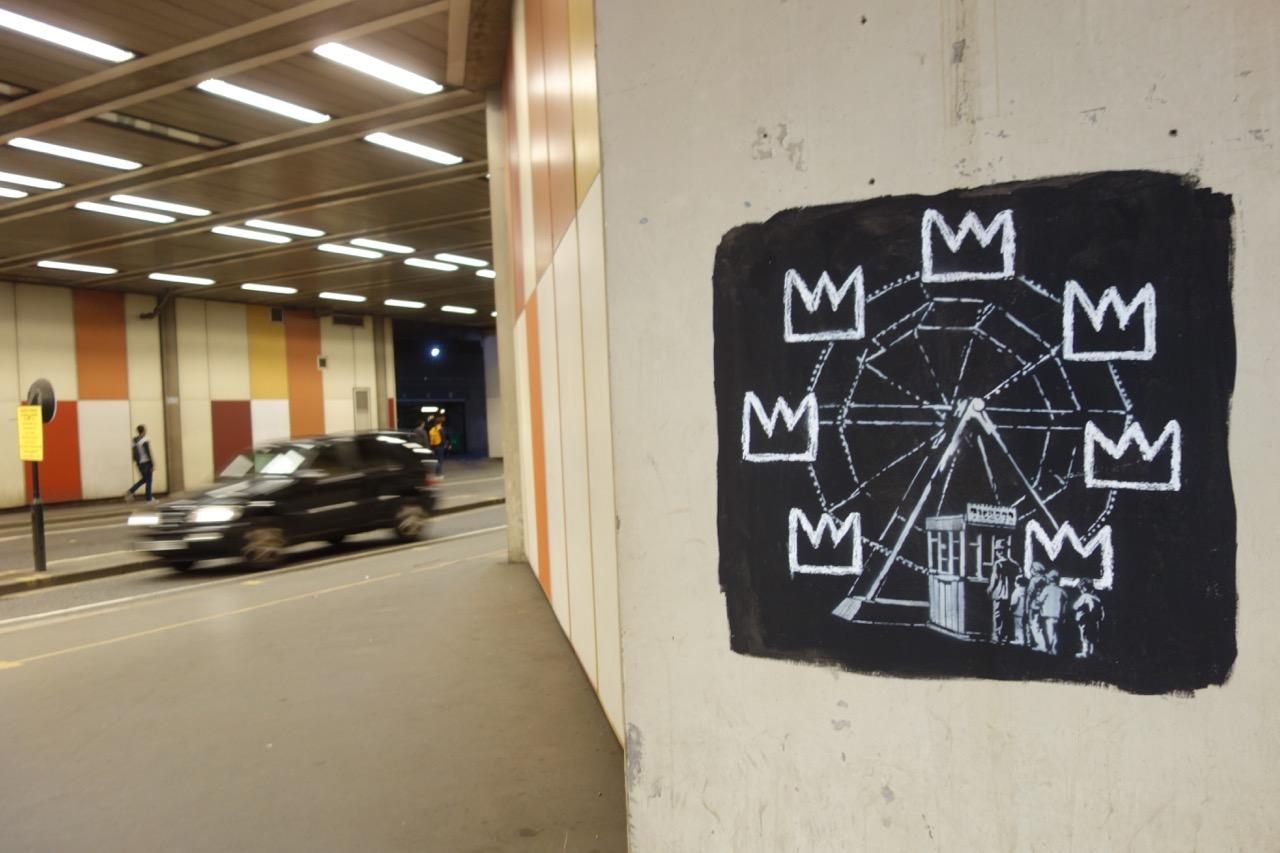 Unofficial Collaboration Between Banksy & Basquiat