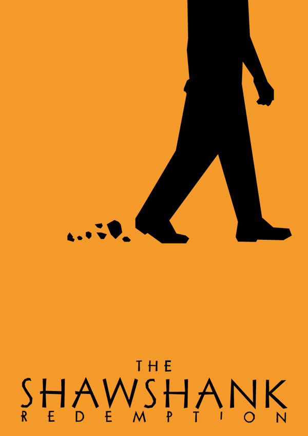 Minimalist Saul Bass Influenced Movie Posters - Lewis Varty