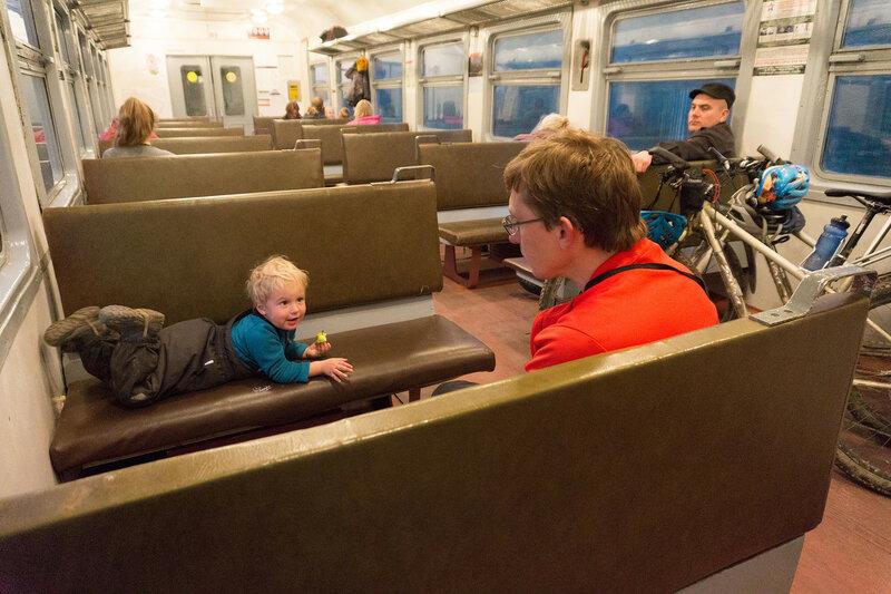 возвращение из велопохода с ребенком на электричке