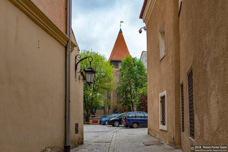Люблин. Краковские ворота и готическая башня