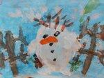 """Фукалов Дима (рук. Иноземцева Светлана Геннадьевна) - """"Снеговик - пингвин"""""""