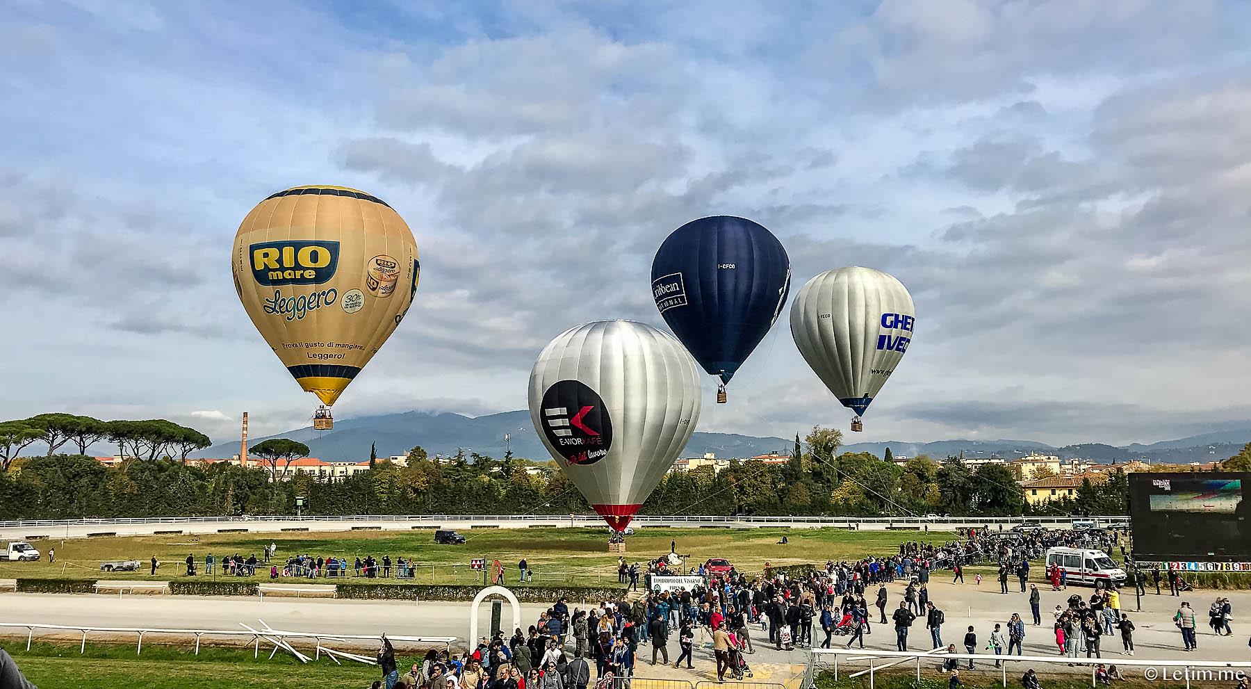 Фестиваль воздушных шаров на ипподроме в Флоренции