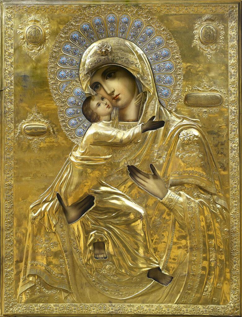 Икона Б.М. Владимирская (конец XIX века) (118 х 91 см) (Частное собрание).jpg