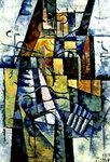 Иван Пуни «Портрет жены художника» 1914 г.