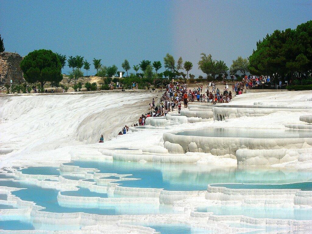 Памуккале - поток туристов