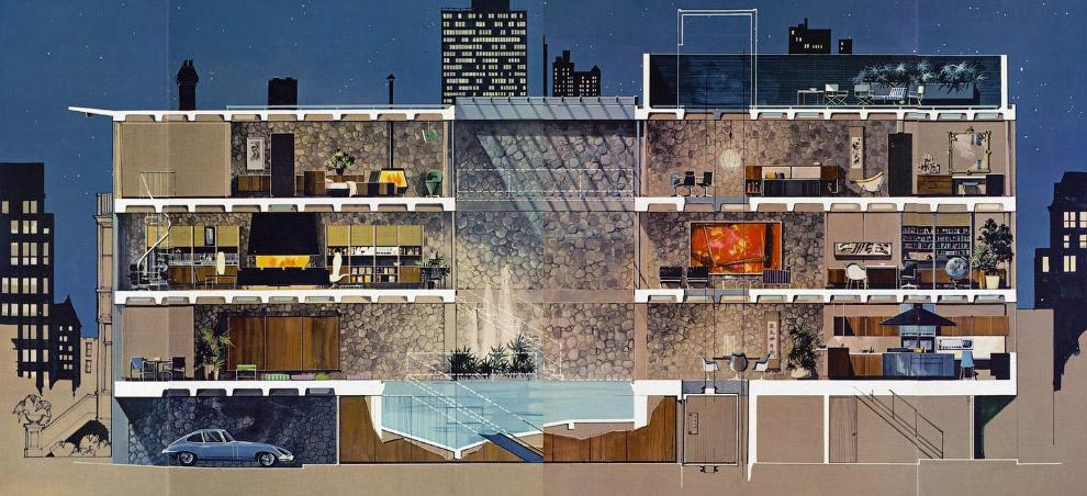 5. Свои знаменитые круглые кровати, на которых он работал, Хью Хефнер придумывал сам.