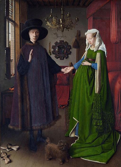 Пожалуй, самым известным зеркалом в картине является то, которое изобразил Ян ван Эйк на своем полот