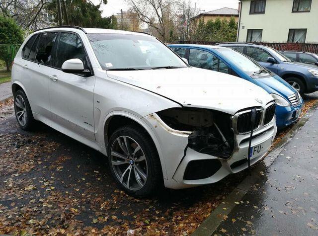 Варвары с газовой горелкой ослепили BMW X5 (2 фото)