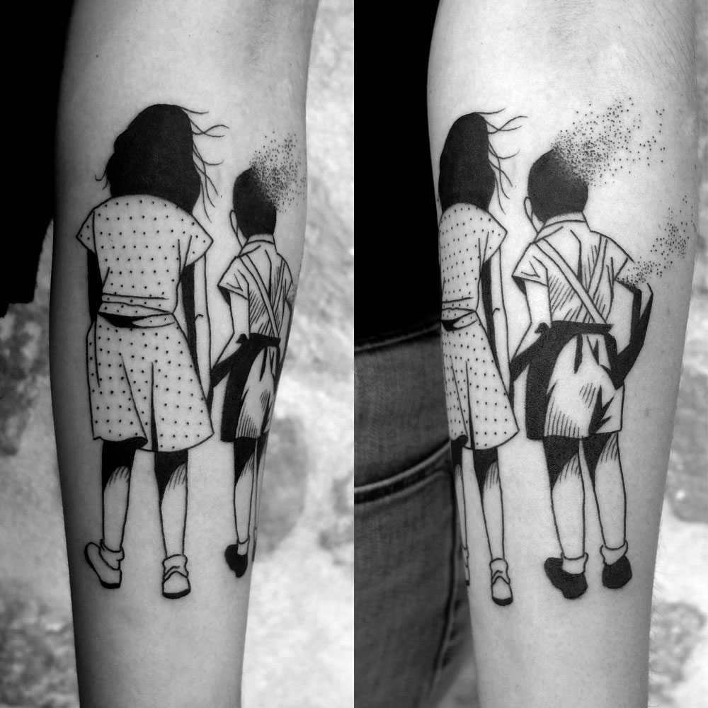 Black and White Expressive Tattoos by Sixo Santos